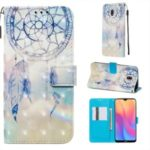 Pattern Printing Light Spot Decor Leather Wallet Case for Xiaomi Redmi 8A – Feather Dream Catcher