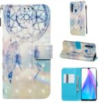 Pattern Printing Light Spot Decor Leather Wallet Stand Case for Xiaomi Redmi Note 8T – Feather Dream Catcher