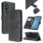 Solid Color Wallet Magnetic Leather Cover for Xiaomi Mi CC9 Pro/Mi Note 10/Mi Note 10 Pro – Black