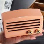 Retro Style Wireless Bluetooth Speaker Mini Portable TF Card Slot Music Player – Pink