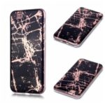 Marble Pattern Rose Gold Electroplating IMD TPU Case Shell for iPhone 8/7 – Black