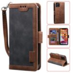 Retro Splicing Leather Covering for iPhone 11 Pro 5.8 inch – Grey