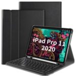 For Apple iPad Pro 11-inch (2020) Bluetooth Keyboard and Detachable Leather Cover – Black