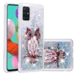Dynamic Glitter Powder Sequins TPU Case for Samsung Galaxy A51 – Owl