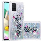 Dynamic Glitter Powder Sequins TPU Back Case for Samsung Galaxy A71 – SMILE Pattern