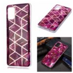 Marble Pattern Rose Gold Electroplating IMD TPU Case for Samsung Galaxy A51 – Rose