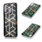 Marble Pattern Electroplating IMD TPU Phone Case for Samsung Galaxy A40 – Green