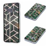 Marble Pattern Rose Gold Electroplating IMD TPU Soft Case for Samsung Galaxy S10e – Green