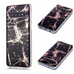 Marble Pattern Rose Gold Electroplating IMD TPU Case Cover for Samsung Galaxy S10 – Black