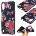 Pattern Printing Embossed TPU Back Case for Samsung Galaxy A01 – Vivid Flowers