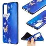 Pattern Printing Embossment Soft TPU Case Cover for Samsung Galaxy S20 – Butterfly Pattern