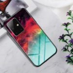 Gradient Color Tempered Glass + PC + TPU Combo Case for Samsung Galaxy A51 – Colorful Nebula
