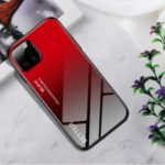 Tempered Glass + TPU + PC Color Changing Skin Shell for Samsung Galaxy A81/Note 10 Lite/M60s – Red/Black