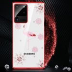 SULADA Eternal Series Rhinestone Decor Electroplating Edges PC Hard Shell for Samsung Galaxy S20 Ultra – Red