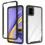 Anti-shock TPU + Plastic + Acrylic Hybrid Clear Back Cover for Samsung Galaxy A71 – Black