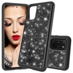 Glitter Powder Hybrid PC TPU Shockproof Case for Samsung Galaxy S20 Plus – Black
