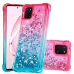 Gradient Glitter Powder Quicksand TPU Shell Phone Cover for Samsung Galaxy A81/Note 10 Lite/M60S – Rose/Baby Blue
