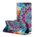 Embossed Pattern Printing Wallet Leather Stand Case for Samsung Galaxy S20 Ultra – Flower