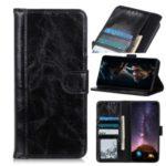 Simple Design Crazy Horse Skin Split Leather Case for Samsung Galaxy S20 – Black
