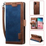 Retro Splicing Leather Phone Covering for Samsung Galaxy Note 10 Pro – Blue