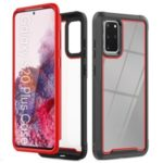 Stylish TPU Bumper + PC Frame + Acrylic Back Hybrid Cover for Samsung Galaxy S20 Plus – Red