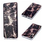 Marble Pattern Electroplating IMD TPU Soft Case for Huawei P30 – Black