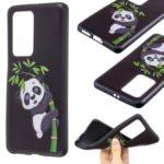 Pattern Printing Embossed TPU Back Case for Huawei P40 Pro – Panda Pattern