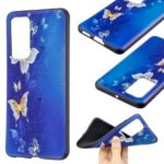 Pattern Printing Embossed TPU Phone Cover Case for Huawei P40 – Butterfly