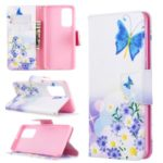 Pattern Printing Wallet Flip Leather Case for Huawei P40 – Butterflies and Flowers