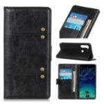 Special Stylish Leather Wallet Casing for Motorola Moto G Stylus – Black