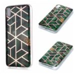 Marble Pattern Electroplating IMD TPU Phone Case for Xiaomi Redmi 7A – Green