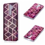 Marble Pattern Rose Gold Electroplating IMD TPU Case for Xiaomi Redmi Note 8 Pro – Rose