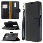 Litchi Skin Wallet Leather Stand Case for Xiaomi Redmi K30 / K30 5G – Black