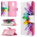 Pattern Printing Leather Wallet Protective Case for Xiaomi Redmi K30 – Colorful Petal