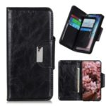 Crazy Horse Skin 6 Card Slots Wallet Stand Leather Phone Case for Xiaomi Mi 10 – Black