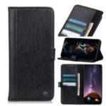 Rhinoceros Skin Wallet Stand Leather Flip Case for Xiaomi Mi 10/Mi 10 Pro – Black