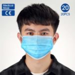 20Pcs/Box [CE Certified] Disposable Face Masks Breathable 3-Layer Medical Masks [Vacuum Packaging]