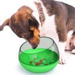 Space Capsule Design Shake Food Bowl Tumbler Food Pet Bowl – Green