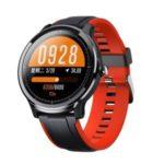 LEMONDA SMART SN80 1.3 inch Waterproof Smart Bracelet Heart Rate Blood Pressure Wristband – Black / Red