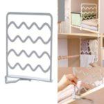 Closet Divider Rack Storage Shelf Wardrobe Space Partition – Grey