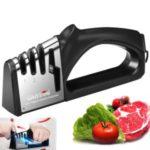4 in 1 Knife Sharpener for Sharp Scissor Kitchen Tools – Black