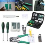 9 in 1 LAN Network Fix Cable Tester Crimper Plier Hand Tool Kit Cat5 RJ45 RJ11 RJ12 Stripping Make Ethernet Connector Test