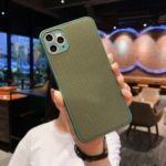 Cloth Surface TPU + PC Phone Case [Precise Camera Cut-out Hole Design] for iPhone 11 Pro 5.8-inch – Green