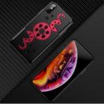 Wheel Gear Design Unique Plastic Phone Case for iPhone XS Max 6.5 inch – Red