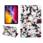 Floral Pattern Printing Wallet Stand Leather Tablet Case for iPad Pro 11-inch (2020)/(2018) – Black