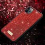 SULADA Dazzling Glittery Surface Leather Coated TPU Case for iPhone 11 Pro 5.8 inch – Red