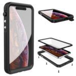 Seal Series Waterproof Phone Casing Cover for Apple iPhone XR 6.1 inch – Black