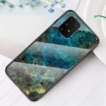 Marble Texture Protection Tempered Glass + PC + TPU Combo Case for Samsung Galaxy A91/S10 Lite – Emerald