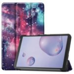 Pattern Printing Tri-fold Stand Leather Tablet Case for Samsung Galaxy Tab A 8.4 (2020) – Purple Cosmic Space