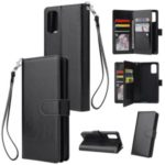 With 9 Card Slots Cell Phone Leather Phone Case for Samsung Galaxy S20 Ultra – Black